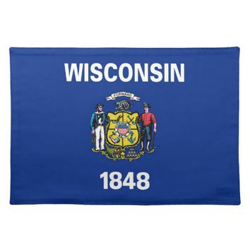 Wisconsin State Flag American MoJo Placemat