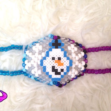 Childrens Size Kandi Mask, Frozen Kandi Mask, Halloween Childrens Masks, Anna and Elsa, Olaf Frozen Kandi, Rave Gear, EDM Rave Wear, Custom