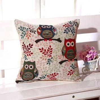 Cartoon Handmade Owl Home Decor Pillow Decorative Throw Pillows Cute Drawing 6