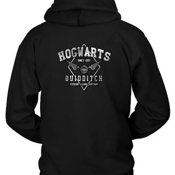 Hogwarts Quidditch Hoodie Two Sided