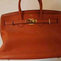 Hermès Birkin Bag Women's Handbag Iconic Orange Rare
