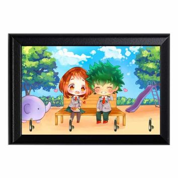 MHA Deku and Ochaco Chibi Wall Plaque Key Holder Hanger