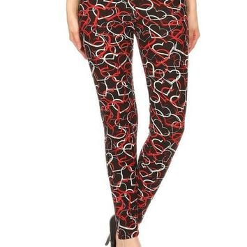 Entangled Hearts Print Leggings
