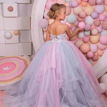 Abaowedding spaghetti straps customised kids prom dresses girls 10 princess pageant ball gowns party dresses frocks for girls
