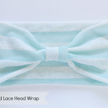Mint and Lace Stretch Head Wrap