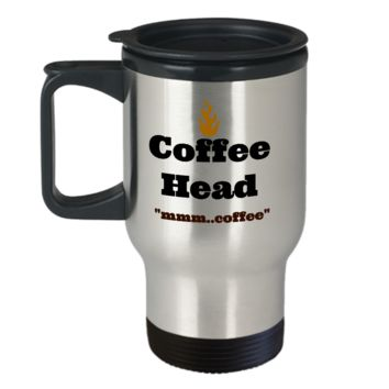 Coffee Head Travel Coffee Cup Mug Stainless Steel Gifts For Friends Novelty Gifts Travel Coffee Cups