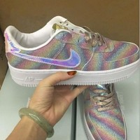 NIKE AIR Fashion Women Running Sport Casual Shoes Sneakers Shining Rainbow Color One-nice™