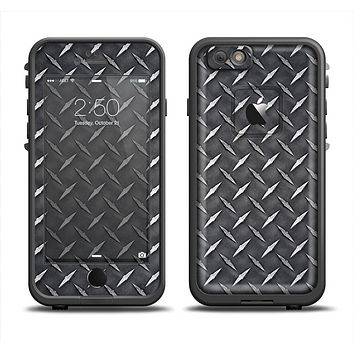 The Black Diamond-Plate Apple iPhone 6 LifeProof Fre Case Skin Set