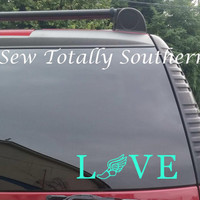 Track Love Decal- Running, Cross Country, Track and Field