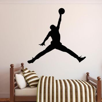 MICHAEL JORDAN Basketball Wall Decal Sticker JUMPMAN Bedroom Sports Decor