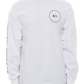 "ROBERTO VINCENZO ""RV Long Sleeve Tee"" in White"