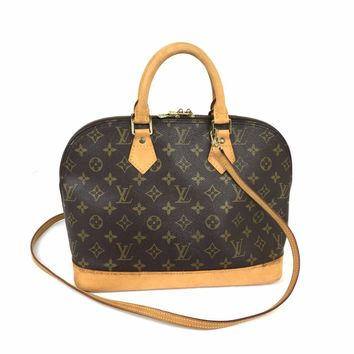 LOUIS VUITTON Monogram Alma PM w/ strap