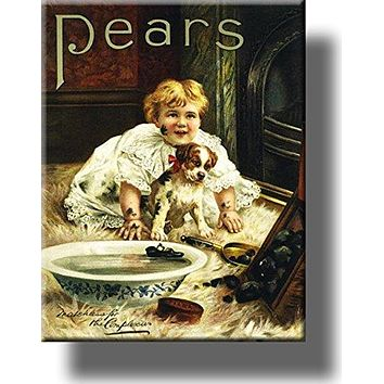 Pears Soap Dirty Boy and Dog Bathroom Picture on Acrylic , Wall Art Décor, Ready to Hang!