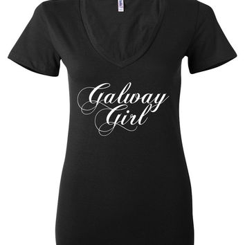 "Ed Sheeran ""Galway Girl"" Women's V-Neck T-Shirt"