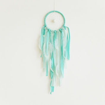 Mint Dreamcatcher, Mint Green Dream Catcher , Boho Decor, Mint Green Nursery, Boho Nursery Decor, Mint Green Decor