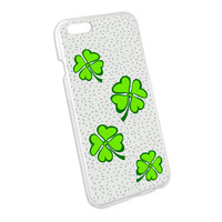 Lots of Luck - Lucky Irish Four Leaf Clover Snap On Hard Protective Case for Apple iPhone 6