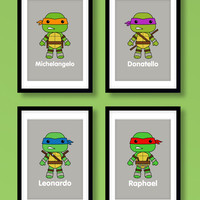 Ninja Turtles wall art, boys wall art, Teenage Mutant Ninja Turtles, kids bedroom, boys room, Ninja Turtles prints, Ninja Turtles wall art