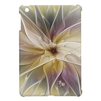 Floral Fantasy Pattern Abstract Fractal Monogram Cover For The iPad Mini