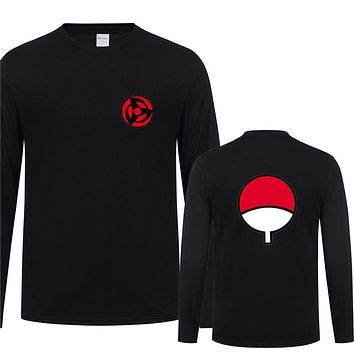 T Shirt Men Anime Naruto T Shirts Autumn Long Sleeve O-neck Cotton Boy T-shirt Tops