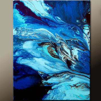 Abstract Canvas Art Painting 18x24 Original Contmporary Paintings by Destiny Womack - dWo - Breaking Free