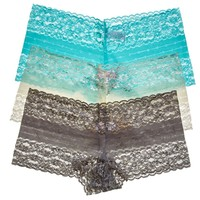 3pk Lace Trimmed Boyshorts 273842156 | Boyshorts | Panties | Intimates Sleepwear | Women | Burlington Coat Factory