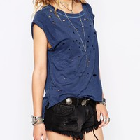 Free People Shredded T-Shirt