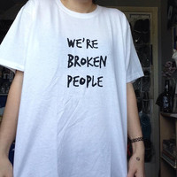 "Twenty one pilots - ""We're Broken People"" - t-shirt top"