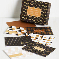 20s Stationery of the Art Notecard Set by Chronicle Books from ModCloth