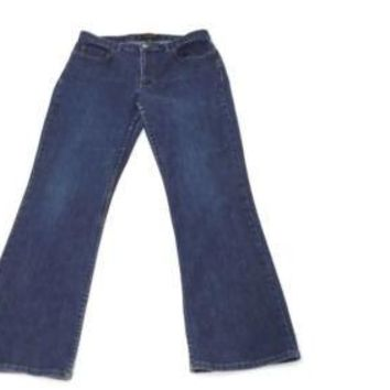 BANANA Republic Stretch Denim Womens Boot cut Jeans Pants Size 12 Distressed