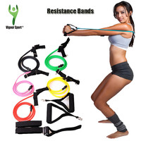 Pull Rope Fitness Resistance Bands Resistance Rope Exerciese Tubes Elastic Exercise Bands for Yoga Pilates Workout Gym Equipment