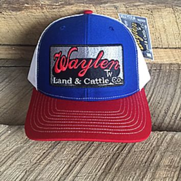 Waylen Land & Cattle Hat Red, White, and You Classic Snapback Trucker OSFA