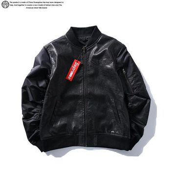 Supreme Leather double-sided wear jacket S ~ XL