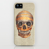 Navajo Skull iPhone & iPod Case by Terry Fan