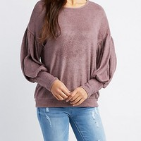 Dolman Sleeve Hacci Knit Top | Charlotte Russe