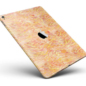 "Orange and Yellow Watercolor Tiger Pattern Full Body Skin for the iPad Pro (12.9"" or 9.7"" available)"