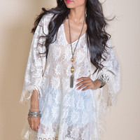Victoria Lace Fringe Dress