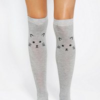 Urban Outfitters - Kitten Knee-High Sock