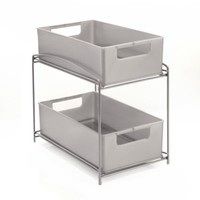 Two Tier Sliding Basket Organizer