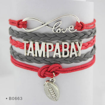 Infinity Love Football Bracelet - Tampa Bay Football