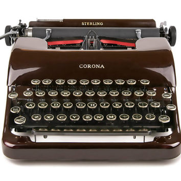1941 Maroon Smith Corona Sterling Typewriter / Professionally Serviced / Working Typewriter / Gifts For Writers / Gifts For Dads / Christmas