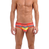 PRINTS PINSTRIPE No-Show Brief