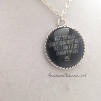 Looking For Alaska Glass Pendant Necklace