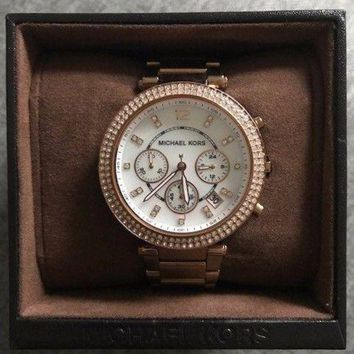 Ladies Michael Kors Mk5491 Chronograph Rose Gold Bracelet Women's Watch Rrp ?¨º229