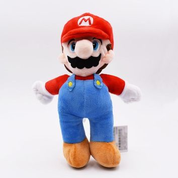 Super Mario party nes switch 10''25cm  Bros Peluche Toys Stand  Brother Red Hat Plush Toys Soft Dolls For Children High Quality AT_80_8
