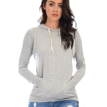 Lyss Loo Easy Rider Drawstring Grey Hoodie Top