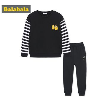 Balabala boys clothing set 2018 toddler kids sport tracksuits children costumes spring clothes suits for boys hoodies + pants