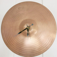Cymbal Clock Drummer Gifts Recycled Cymbal Boyfriend Gift Unique Wall Clocks - For Father, Husband, Brother Gift