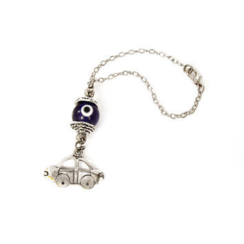 Car Hanging Ornament, Car Mirror Hanging, Car Charm Dangler, Car Decoration, Blue Glass Eye Bead, Evil Eye Hanging