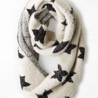 AEO Women's Intarsia Star Loop Scarf (Cream)