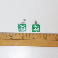 Pitch In Pierced Earrings, Go Green, Environment Awareness, Clean Up, Trash Cleanup, Cleaning, Ecological, Cleanup Project, Garbage,